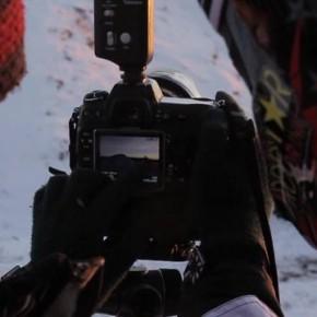 Latający skuter śnieżny i zdjęcia seryjne