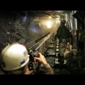 Zdjęcia butów 700 metrów pod ziemią