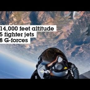 Zdjęcia samolotów F16 i towarzyszące przeciążenie dochodzące do 8 G