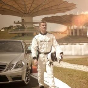 Making of zdjęć Mercedesa AMG E 63 na torze w Kuala Lumpur