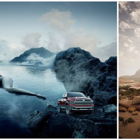 Reklama Dodge Ram Trucks w Sports Illustrated Swimsuit 2013, fotografuje Erik Almas